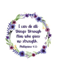 Phillipians 4:13 bible christian i can do all by QuotableStuff