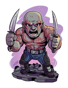 drawing marvel Chibi Drax Print — Derek Laufman - **Price is in US Dollars** Signed x Print on high quality gloss stock. Drawing Cartoon Characters, Character Drawing, Marvel Characters, Comic Character, Cartoon Drawings, Chibi Marvel, Marvel Art, Marvel Heroes, Marvel Avengers