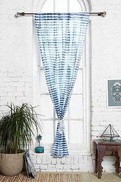 Indigo Tie-Dye Curtain by Noodle