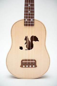 Squirrel Ukulele by celentanowoodworks