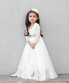 Storybook Dreams Dress in Ivory Flower Girl Dresses Boho, Flower Girl Tutu, Nice Dresses, Tutu Dresses, Teal Wedding Centerpieces, Garden Dress, Dress Sash, Pink Tulle, Birthday Dresses