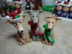 Custom Greyhound Clay Ornament by ClayCreationsbyLaura on Etsy