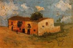 House in the field, Pablo Picasso