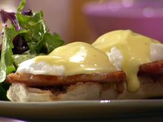 Eggs Benedict recipe from Anne Burrell via Food Network