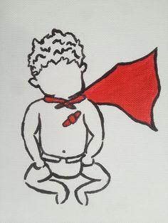 Legendary Liam Super Boy Painting Print CHD Awareness via Etsy