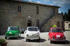 Fiat 500 in Italian Colors: Vintage Destination Wedding in Tuscany | Fly Away Bride