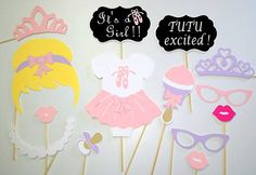 Tutu's and Tiara's Photo Booth Prop Set  Check out this item in my Etsy shop https://www.etsy.com/listing/250455212/14-piece-tutus-and-tiarastutusballerina