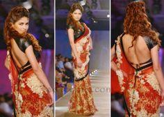 Parvathy Omankuttan in Monisha Jai Singh #Net #Saree with Black Backless #Blouse at DWC '13.