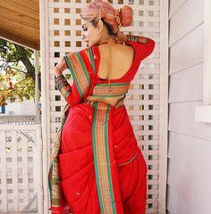 Kashta Saree, Sarees, Marathi Saree, Nauvari Saree, Indian Beauty Saree, Backless, Lady, Beautiful, Girls