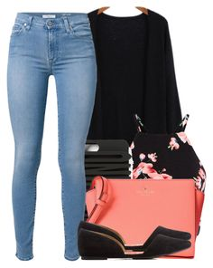 """September 29th 2015"" by ashcake-wilson ❤ liked on Polyvore featuring Moschino, Kate Spade, 7 For All Mankind, Charlotte Russe, women's clothing, women, female, woman, misses and juniors"