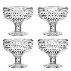Iittala Kastehelmi Dewdrop Clear Footed Bowl Gift Set from Iittala Black Friday Cyber Monday