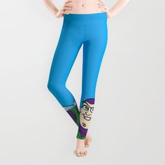 """Buzz: """"To infinity, and beyond!"""" Leggings <br/> <br/> Toy Story / Buzz Lightyear / Space ranger / space / galaxy / universe / Disney / Cartoon / Animation"""