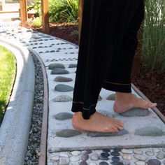 This reflexology path is located on private property in Enumclaw, Washington.