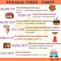 Phrasal Verbs: Party