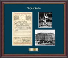 New York Yankees Frame - Collectible and Memorabilia Frames #EarnItFrameIt @diplomframe
