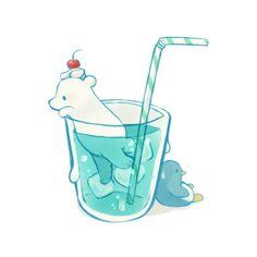 #polarbear #penguin #icewater