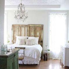 Goodnight! - Door DIY Ideas, Repurposed Doors - 10 New Uses for Old Doors - Bob Vila