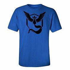 Top Tapa Camisa De Mangas Cortas Gráfica Camiseta Amarilla Pokemon Equipo De Go Instinto Mística Pokeball Para Hombre #camiseta #friki #moda #regalo