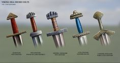 I've re-painted a few sword hilts from the Viking era to what they may have looked in the day. Enjoy guys!