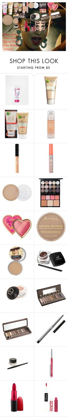 """""""Selena Gomez """"Slow Down"""" Official Music Video Makeup Tutorial!"""" by oroartye-1 on Polyvore featuring beauty, Rimmel, Garnier, Neutrogena, Maybelline, NYX, Too Faced Cosmetics, Forever 21, e.l.f. and Sigma"""