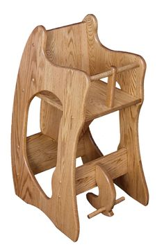 Amish Three-In-One Oak Highchair, Rocker, and Desk - Brandenberry Amish Furniture Amish Rocking Chairs, Rocking Chair Plans, Amish Furniture, Kids Furniture, Wooden Sofa Set Designs, Leather Recliner Chair, Woodworking Desk, Popular Woodworking, Woodworking Projects