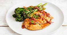 Kylling med lønnesirup, koriander og stekt Bimi® brokkoli, et deilig måltid. Bruschetta, Risotto, Eat, Ethnic Recipes, Food, Drink, Cilantro, Beverage, Essen
