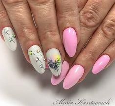 Gel Nail Art, Nail Manicure, Spring Nails, Summer Nails, Acrylic Nail Designs, Nail Art Designs, Gel Nagel Design, Almond Acrylic Nails, Cat Nails