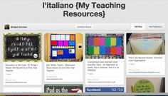 Bridget Gorman's Italian Teacher Pinterest Board