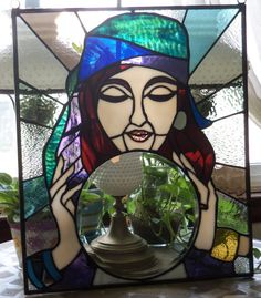 Stained Glass Panel  Gypsy Fortune Teller   OOAK by ClearViewGlass, $200.00