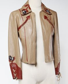 East West Musical Instruments Vintage 70s Leather 'Rodeo' Jacket | From a collection of rare vintage jackets at https://www.1stdibs.com/fashion/clothing/jackets/