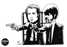 @MrSmithMachine - #inktober Day 27: Jules and Vincent #PulpFiction