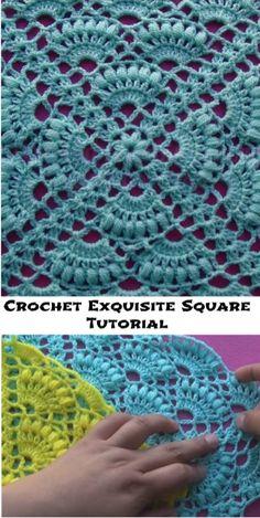 Transcendent Crochet a Solid Granny Square Ideas. Inconceivable Crochet a Solid Granny Square Ideas. Granny Square Crochet Pattern, Crochet Blocks, Crochet Stitches Patterns, Crochet Squares, Crochet Motif, Diy Crochet, Crochet Designs, Knitting Patterns, Crochet Ideas