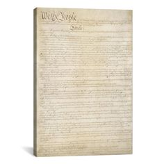 Found it at Wayfair - Political 'The Constitution Document' Textual Art on Canvas