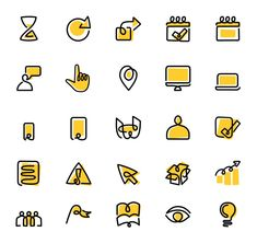 Icons Discover Yellow Pages iconography design and illustrations Web Design Icon, Flat Design Icons, Logo Design, Design Design, Icons Web, Website Icons, Brand Icon, Yellow Pages, Industrial Design Sketch