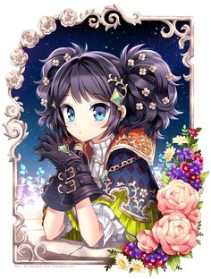 kawaii :3 almost reminds me of a younger version of myself (complexion/hair wise)