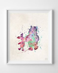 Pooh and Piglet, Winnie the Pooh Print