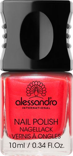 Nail Polish 40 Shiny Strawberry One of alessandro International's 99 top fashion colors, designed to make the heart of any nail polish freak beat faster. And now with a new patented formula for even more brilliance on nails: Incredible long durability , Fast drying, No chipping, Smooth & streak free application, High color intensiveness due to UV absorber, Protects nails, High gloss shine.