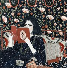 I'm reading a book about FLOWERS. Does it count as fresh air?  YELENA BRYKSENKOVA - Reading(Enormous Tiny Art):