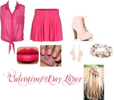 """""""Valentines Day Outfit"""" by crystalblack6 on Polyvore"""