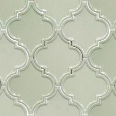 Byzantine Arabesque Alice Blue Ceramic Tile - Arabesque Tile - Shop By Tile Shape and Pattern