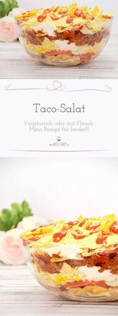 Einen Nudelsalat oder Kartoffelsalat zum grillen ist lecker, kennst du aber schon den Taco-Salat? Würzig und frisch ist dieser der absolute Knaller! Mit Fleisch oder auch Vegetarisch einfach nur gut!
