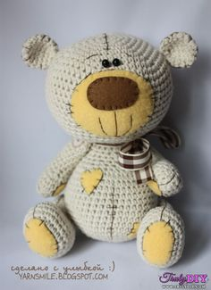 Crochet Teddy Bear Fizzy Moon