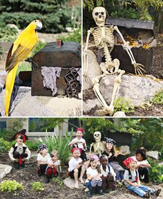 Love these decorations for a pirate party! / ¡Me encantan estos decorados para una fiesta pirata!
