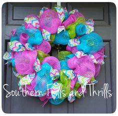 Spooky Halloween Deco Mesh Wreath por SouthernThrills en Etsy