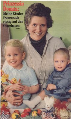 Princess Donata of Prussia, widow of Prince Louis Ferdinand, with the couple's 2 children, Prince Georg Friedrich and Princess Cornelie-Cecile, who was born developmentally disabled.