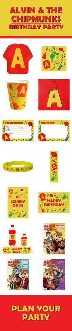 Our Chipmunks party supplies line of products include tableware, favors, decorations, and more. They will go great with an Alvin & the Chipmunks or music birthday party. Check them out here: http://www.discountpartysupplies.com/boy-party-supplies/chipmunks-party-supplies?utm_source=Pinterest&utm_medium=Social&utm_content=CHIPMUNKS_PARTY_SUPPLIES&utm_campaign=CHIPMUNKS_promoted_pin