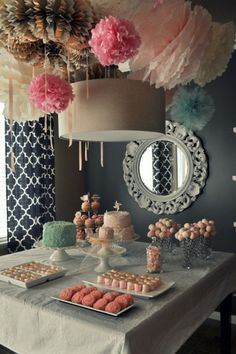 love the idea of different textures for the pom poms great in hues of purple and pink!