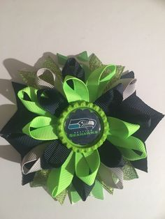 A personal favorite from my Etsy shop https://www.etsy.com/listing/501531955/seattle-seahawks-inspired-loopy-hairbow