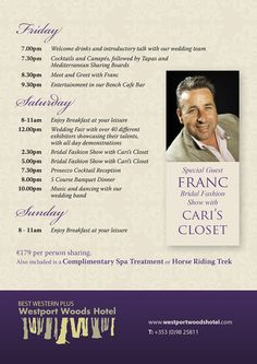 Wedding Weekend with Special Guest Franc. Itinerary of what's going to happen over this two day event. It is the ultimate wedding planning experience! Wedding Fair, Wedding Weekend, Our Wedding, Welcome Drink, Planning Your Day, Special Guest, Wedding Photos, Wedding Planning, Entertaining