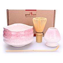 Goodwei Premium Matcha Tea Set Shisupure, 80 Gift Box Whisk and Holder Ceremonial Bowl Chawan